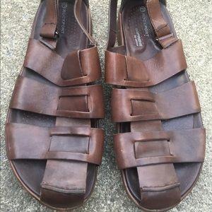 Men's Rockport Brown Leather Sandals Size 9.5M EUC
